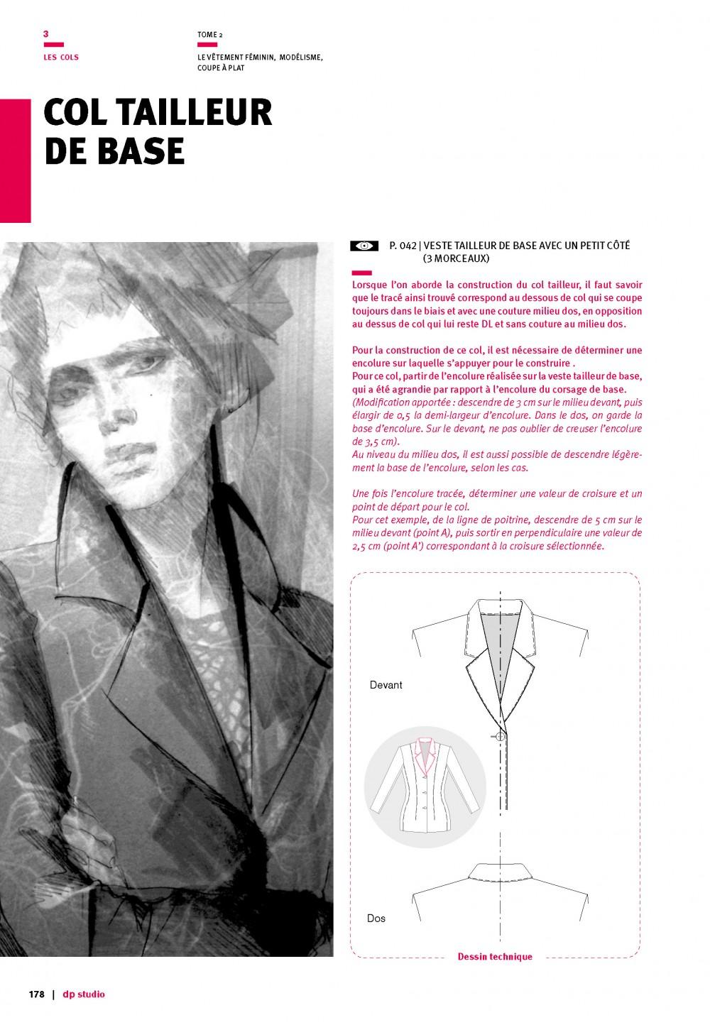 Le À FémininModélisme Coupe Vêtement Plat bfgy6Y7v