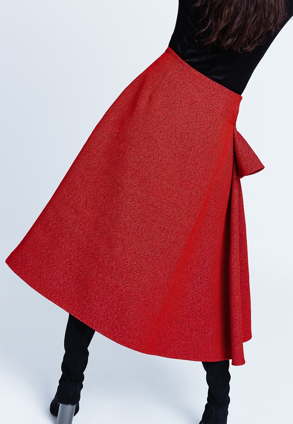 how to make long ruffle skirt