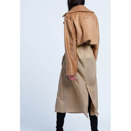 le 702a and b - Trompe l'oeil trenchcoat