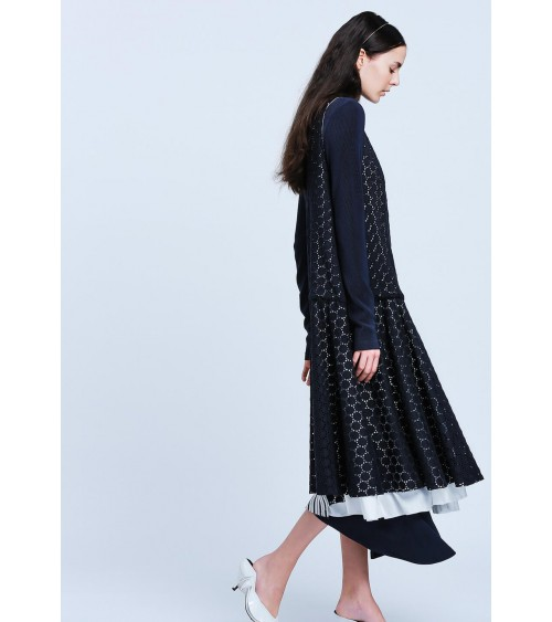 le 916a and b - Asymmetric cardigan dress