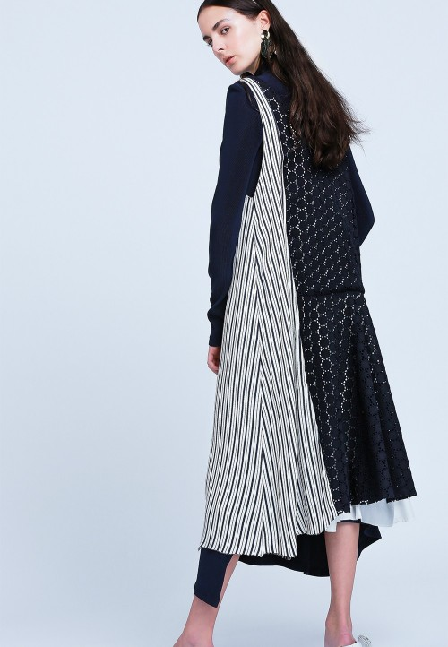 Asymmetric cardigan dress