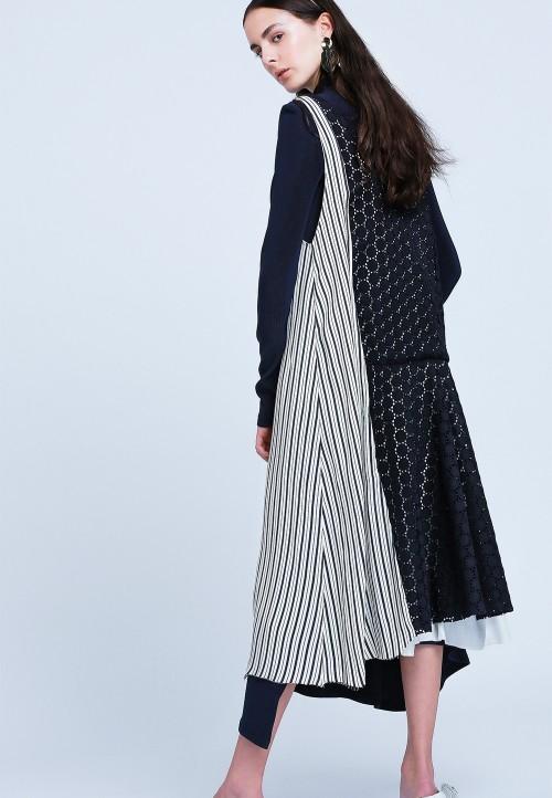 Robe gilet asymétrique