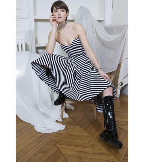 Strapless flared dress