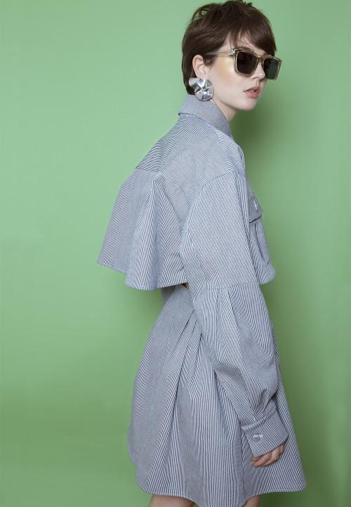 Robe/chemise ample et déstructurée, en deux parties