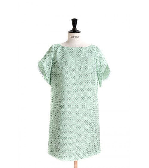 Le_9001 Flared dress/top with tulip sleeves