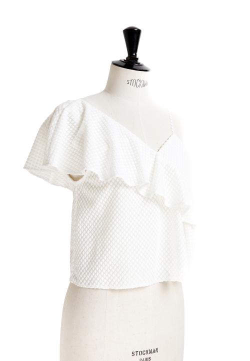 Le_5007 Asymmetric frill top/dress
