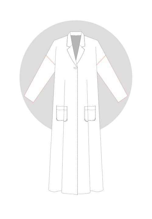 Dropped-shoulder sleeve (coat)