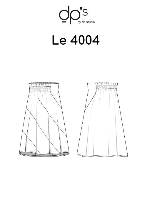 Le_4004 Jupe à panneaux coupés dans le biais