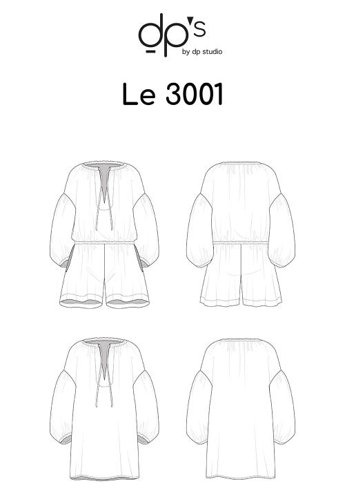 Le_3001 Combo-short loose/Tunique