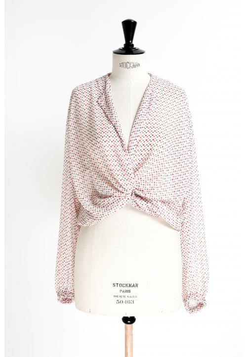 Le_5001_PDF_Tie-neck blouse, with or without sleeves