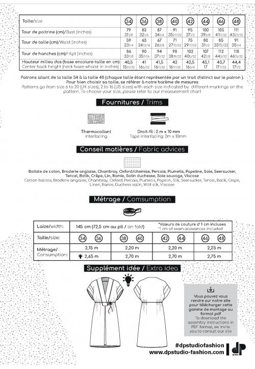 Le_5002_PDF_Tunique/robe manches basses et profond décolleté