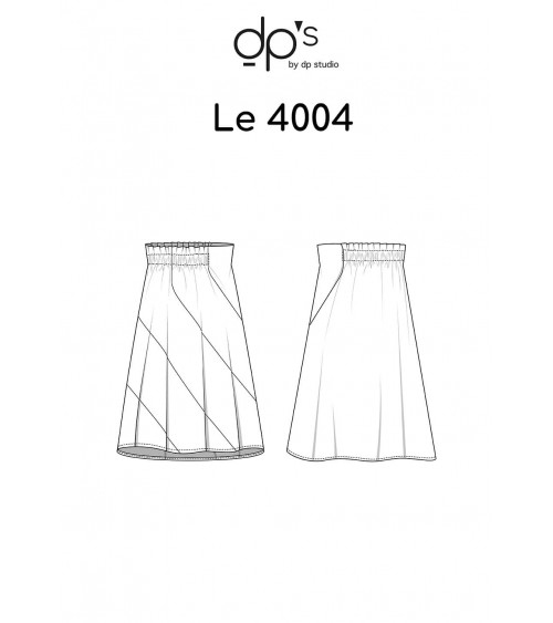 Panel skirt cut on the bias