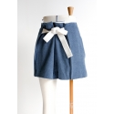 Belted short/Trousers, with pleats