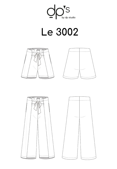 Le_3002_PDF_Belted short/Trousers, with pleats