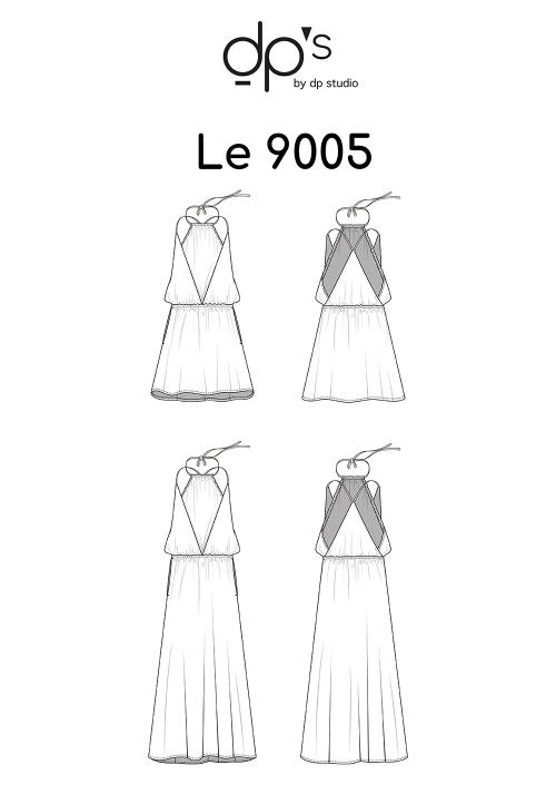 Le_9005_PDF_Robe à panneaux, coupée à la taille