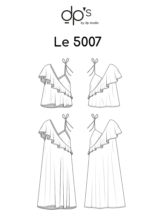 Le_5007_PDF_Asymmetric frill top/dress