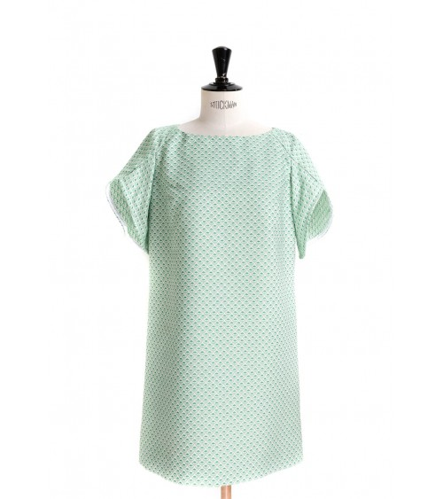 Flared dress/top with tulip sleeves