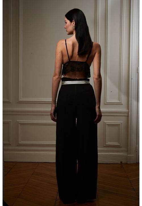 Le 308 Théo - Pantalon taille haute chocolat