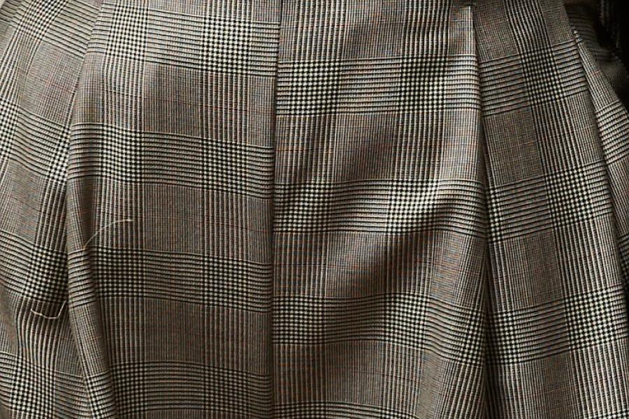 Le 305 Jules Pantalon ceinturé à plis Prince de galles