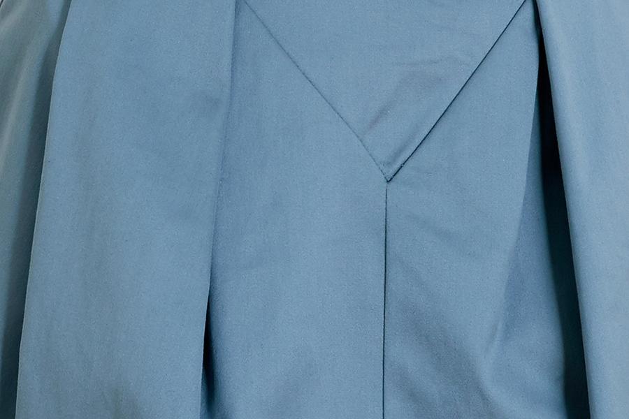 Le 412 EMMA Jupe droite à empiècement et plis couchés/à plis couchés bleu canard