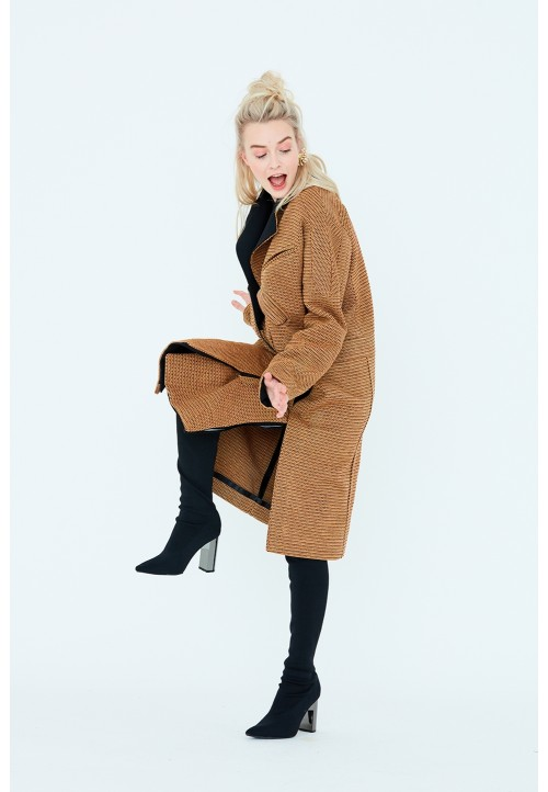 Le 805 Coat/jacket with saddle sleeves and « biker style » seams