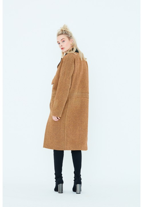 Le 805 Coat/jacket with saddle sleeves and «biker style» seams