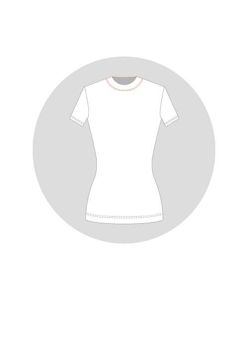 Collar for the knitwear base