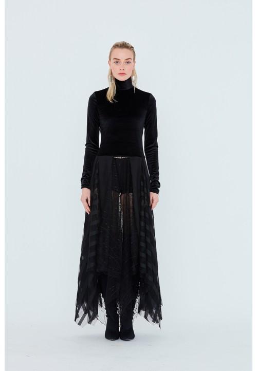 Le 933 Handkerchief dress, cut at the waist