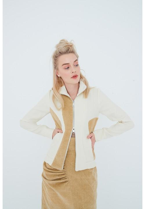 Le 205 Asymmetric close-fitting sports jacket
