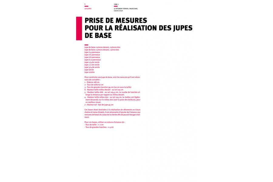 Prise de mesures pour les jupes de bases