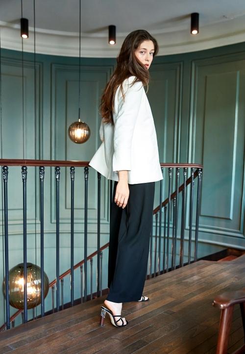 Le 308 Théo - Pantalon taille haute noir