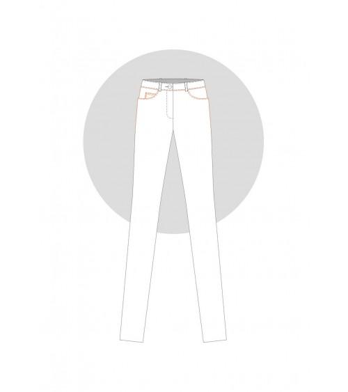 Poche façon jean «quart de rond» sur le pantalon
