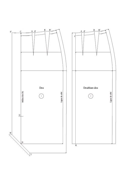 Edge to edge slit for a skirt base (luxury)