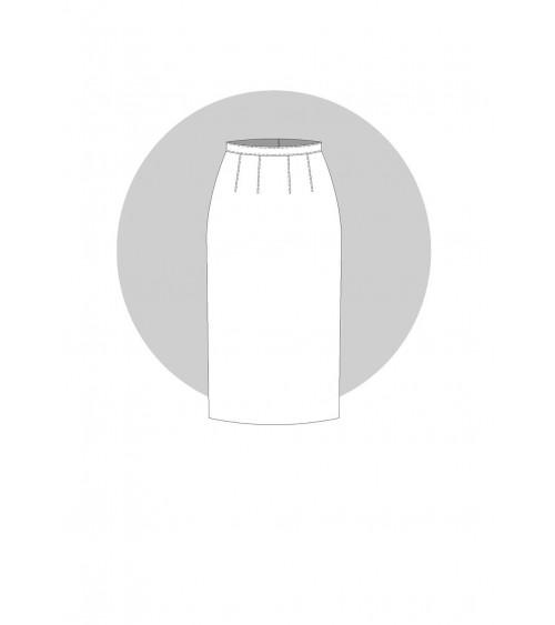 Fente couchée pour la jupe de base (prêt-à-porter)