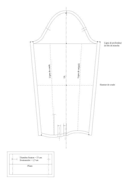 Couturage pour la manche chemisier (luxe)
