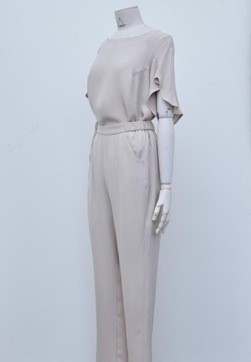 LE 3003 Pantalons fluide taille élastique et poches italiennes