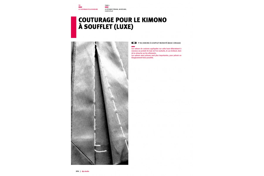 Couturage pour le kimono à soufflet (luxe) Langue:Français