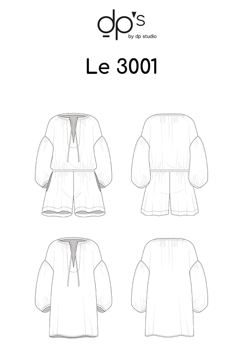 Le_3001 Loose playsuit/ Tunict