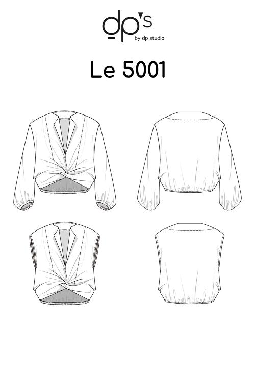 Le_5001 Blouse nouée avec ou sans manche
