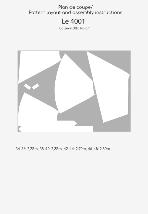 Le_4001 Jupe portefeuille asymétrique évasée et ceinturée
