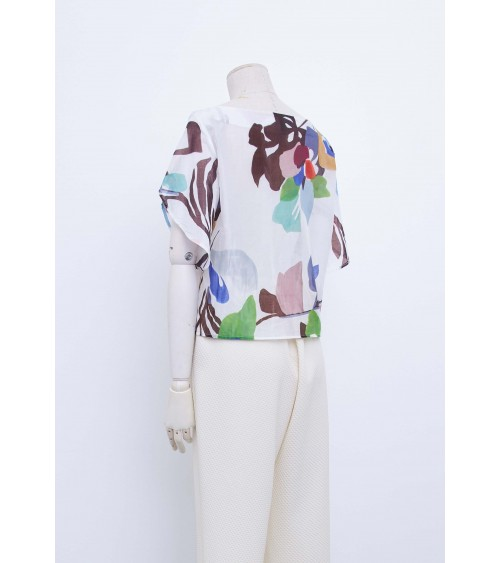 Robe/top trapèze, manches tulipes