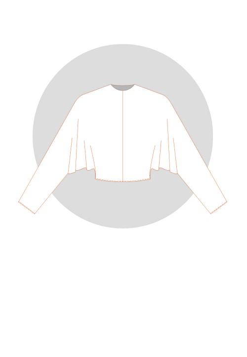 Classic batwing kimono sleeve