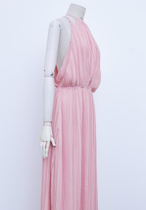 Le_9005 Panel dress, cut at the waist