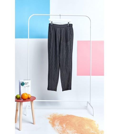 Pantalons fluide taille élastique et poches italiennes