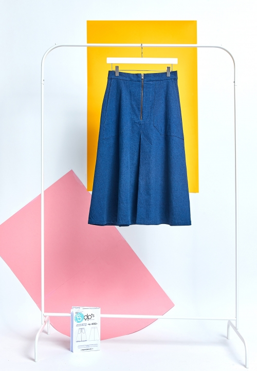 LE_4002_PDF Flared skirt denim style