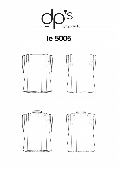 Le 5005 PDF Top Sleeveless pleated blouse