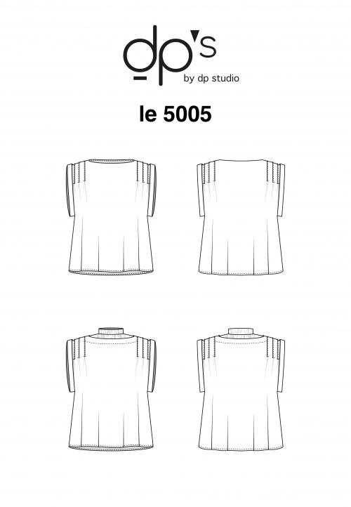 LE_5005 Top à plis sans manches
