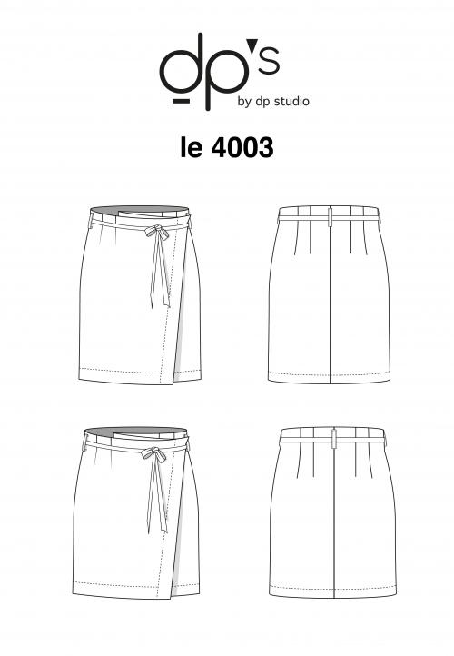 "4003 ""wrap skirt """