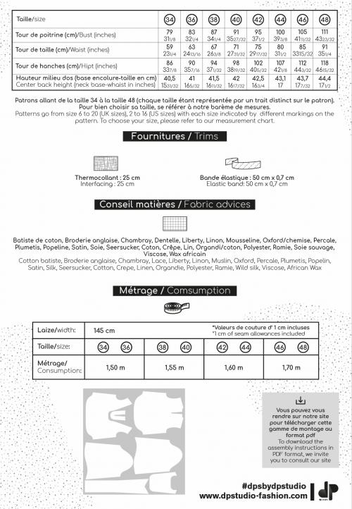 LE_5003_PDF Chemisier à plastron et col noué