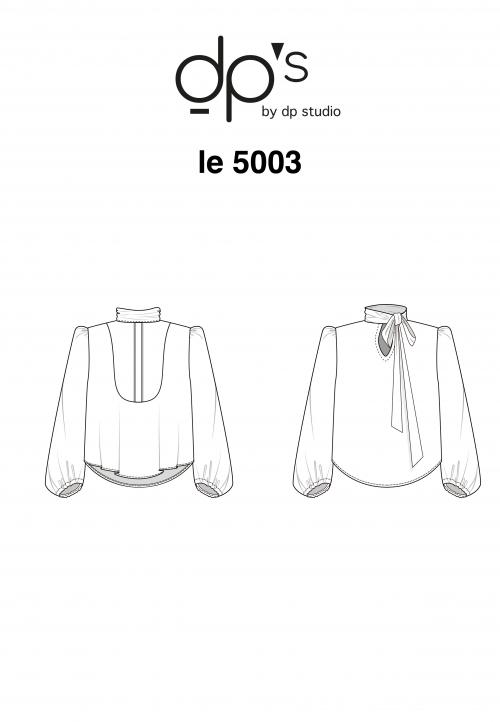 LE_5003 Chemisier à plastron et col noué
